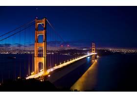 金色的,大门,桥梁,桥梁,灯光,海湾,存储区域网,弗朗西斯科,