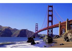 金色的,大门,桥梁,海滩,天空,壁纸,