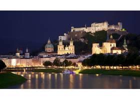 霍恩萨尔斯堡,城堡,城堡,奥地利,萨尔茨保,建筑物,桥梁,城堡