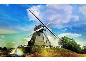 风车,建筑物,壁纸,(1)