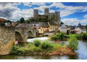 城堡,城堡,直接热轧制,人,河,壁纸,