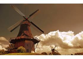 风车,建筑物,壁纸,(2)