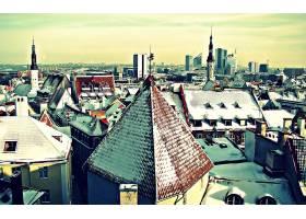 城市,城市,冬天的,欧洲,壁纸,
