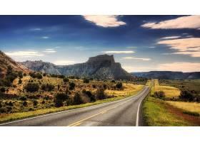 路,风景,山,风景优美的,天空,云,壁纸,(1)