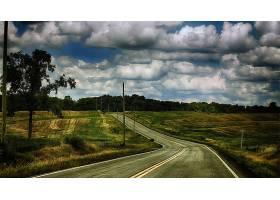 路,风景,风景优美的,云,天空,壁纸,