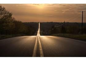 路,风景,风景优美的,日出,壁纸,