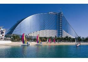 迪拜,城市,一致的,阿拉伯人,阿联酋航空公司,海滩,海洋,沙,