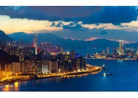 城市,城市,城镇,大都市,建筑物,摩天大楼,天空,云,壁纸,(2)