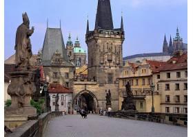 建筑物,建筑物,这,链条,桥梁,布拉格,捷克人,共和国,城市,壁