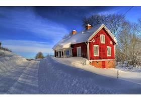 房子,建筑物,冬天的,雪,自然,风景优美的,建筑物,壁纸,