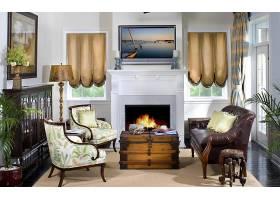 房间,内部,风格,休息室,壁炉,沙发,椅子,枕头,绘画,灯,窗户,