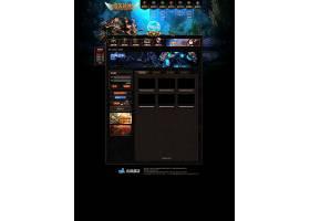 创意网页游戏惊天战神官网网页设计通用模板