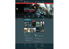 创意网页游戏枪战官网网页设计通用模板