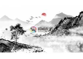 中国风水墨丹青意境装饰画国画设计