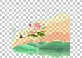 夏季海报背景,绿色,花,草,花瓣,叶,植物群,植物,秋季,夏天,海报,