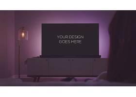 室内家庭智能大屏电视LOGO展示样机