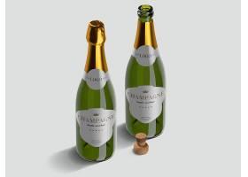 香槟瓶PSD素材
