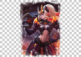 花木兰-水晶猎龙者王者荣耀游戏角色皮肤原画