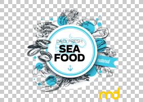 餐厅徽标,标签,圆,线路,徽标,文本,贝类,食物,海鲜餐厅,鱼,下一代