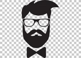头发徽标,符号,小胡子,剪影,绅士,线路,头盔,面部毛发,鼻子,黑白,