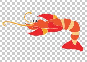 水彩卡通,线路,卡通,红色,水彩画,海鲜煮,小龙虾,虾,龙虾,