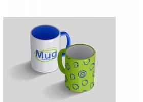 马克杯陶瓷杯外观LOGO展示样机