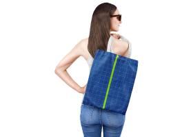 布袋子外观包装粘贴LOGO样机展示