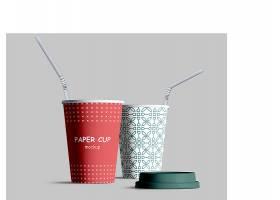 逼真的纸杯模型