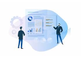 数据商务职场办公矢量图素材