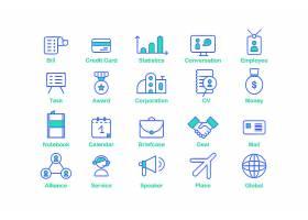 商务通用UI图标装饰插画设计