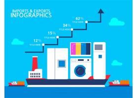 货运轮船插画图片