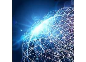 点线科技地球背景图