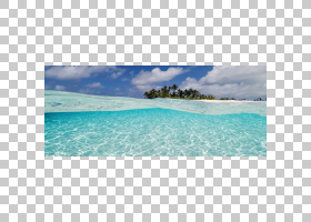 海滩卡通,热带,游泳池,泻湖,绿松石,休假,天空,岛,天蓝色,加勒比图片