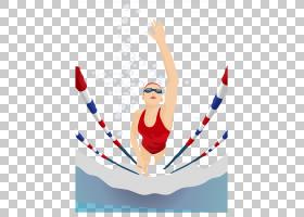 游泳卡通,手臂,线路,关节,体操运动员,娱乐,奥运日跑,动画,漫画,