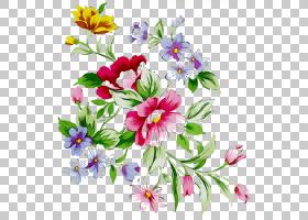 花艺水彩画,水彩画,草本植物,插花,花卉,野花,伊夏,花束,植物,花
