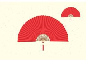 扇子中国风装饰元素花纹边框底纹设计
