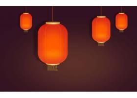 灯笼中国风装饰元素花纹边框底纹设计