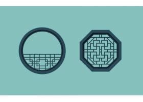 中国风装饰元素花纹边框底纹设计
