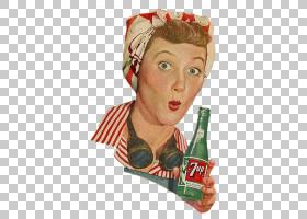 女卡通,饮具,碳酸软饮料,加拿大干燥,7向上,喝酒,食物,女人,瓶子,