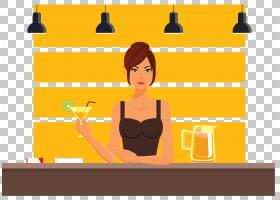 桌面卡通,幸福,线路,表,组织,黄色,关节,坐着,模拟尾巴,女人,室内