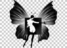 蝴蝶黑白,黑白,机翼,仙女,飞蛾与蝴蝶,舞者,传粉者,芭蕾舞者,剪影图片