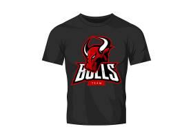 创意公牛图标T恤设计