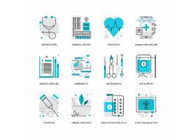 创意多款线条简洁医疗卫生主题图标UI设计