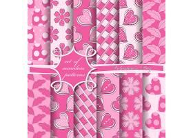 粉色无缝背景图案