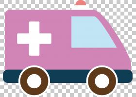 救护车卡通,技术,线路,徽标,面积,粉红色,急救,医院,警车,诊所,卡