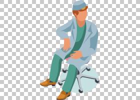 医学卡通,男性,专业,家具,头盔,关节,手,线路,坐着,酷,手指,角度,