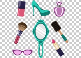画笔背景,刷子,高跟鞋,女人,化妆品,美,女性,