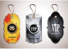 黑金大气VIP贵宾会员卡标签设计