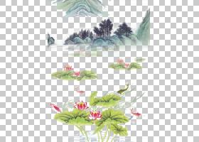 中国边框设计,花卉,草,绿色,树,生态系统,植物群,花卉设计,插花,图片