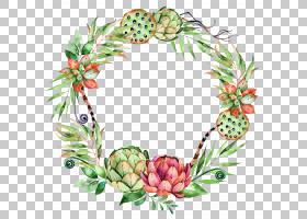 水彩圣诞花环,花卉设计,水果,装饰,树,食物,圣诞装饰,海报,水彩画
